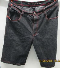 5ive Jungle Jean Shorts, Black with Colorful Stitching, Waist 38. These Look New