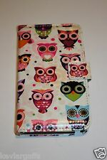 Cellphone Case Colorful Cartoon Owl Wallet Case for Samsung Galaxy Note 3