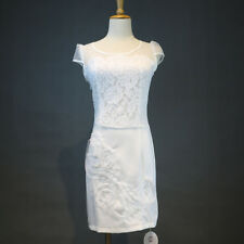 Quality OUTLET Women Lace Organza OL Bodycon Evening Party Cocktail Dress White