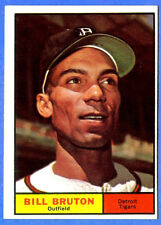 1961 Topps  BILL BRUTON  (Detroit Tigers) Card # 251  (vg-ex)