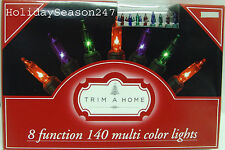 140 Motion Chaser Light String Multi Color 8 Function Christmas Holiday Decor