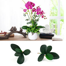 Simulation Artificial Leaf of Butterfly Orchid Flower Bush Grass Plant Decor DIY