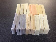 1KG NATURAL HANDMADE VEGAN CRUELTY FREE SOAP. Slices.Slices and more slices.