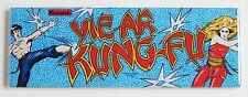 Yie-ar Kung Fu Marquee FRIDGE MAGNET (1.5 x 4.5 inches) arcade video game