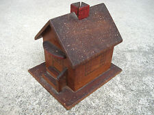 Vtg Antique Folk Art One Room Country Wooden Schoolhouse Wood Letter Holder ?
