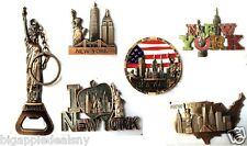 Lot of 6 Statue of Liberty KEYCHAIN CAN OPENER NYC Souvenir Gift Fridge Magnets