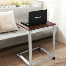 2 Tire Coffee Tray Sofa Side End Table Laptop Stand Over Bed TV Snack Rolling