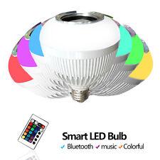 E27 6W Speaker Light Colorful RGB LED Bluetooth Bulb Wireless Music Audio Lamp