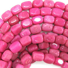 "14mm magenta jade nugget beads 15"" strand"