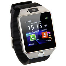 DZ-09 MTK6260A 128+64MB 1.3MP Bluetooth Smart Watch for IOS Anroid iPhone Silver