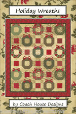 Quilt Pattern ~ HOLIDAY WREATHS ~ by Coach House Designs