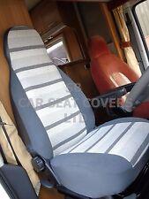 Para adaptarse a una Fiat Ducato Autocaravana, cubiertas de asiento, 2013, MH-158 Rayas Gris George