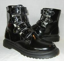 Urban Outfitters Deena & Ozzy Women's Faux Patent Leather Buckle Boots size 8