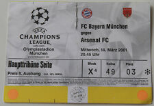 OLD TICKET * CL Bayern Munchen Germany - Arsenal FC London England