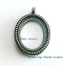 Hot sale! Antique oval Living Memory Glass Floating Locket fit for charms