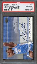 2003-04 upper deck finite signatures #ca CARMELO ANTHONY rookie card PSA 10