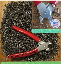 """2500pcs USA made 3/4"""" Hog Rings for Car Upholstery Netting Attachment fences"""