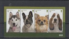 Montserrat 2014 MNH Dogs 4v M/S Pets Husky French Bulldog Chihuahua Basset Hound