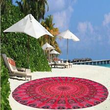 1.4M India Mandala Roja Toalla Colgar Pared Manta Redondo Estera Yoga Playa