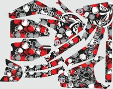 Graphic kit for 2007-2015 Honda CRF150r CRF 150r Skull Decal fender shrouds