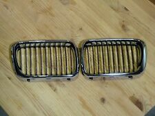 BMW E36 3-Series Aftermarket Front Kidney Grille Grill Chrome Black Left & Right