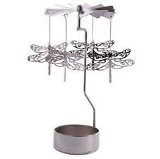 NEW METAL DRAGONFLY TEA LIGHT POWERED SPINNING CANDLE HOLDER DECORATION SPIN04