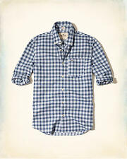 BNWT Hollister by Mens Blue Plaid Small Check Shirt. Size S