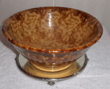 ANTIQUE BENNINGTON - Spongeware  POTTERY Medium Bowl 9 3/4 in.