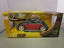 JADA 1/24 DUB CITY BLACK AND RED 1959 VW BEETLE NEW IN BOX *READ*