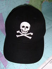 "Marine Sailing Yachting Baseball cap with ""Skull & Crossbone"" emblem embroidered"