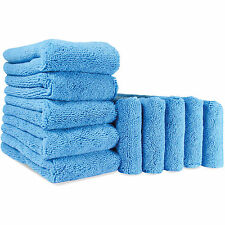 Autobright 10x Plush Microfibre Towels Blue Fox Car Wax 380gsm Car Care Cleaning