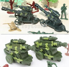 4 pcs Military Camo Cannon Vehicles Army Men Toy Soldier Accessories