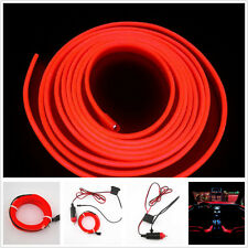 2M 12V EL Wire Red Cold light lamp Neon Lamp Car Atmosphere Lights For Peugeot