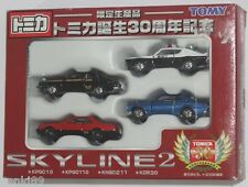 TOMICA NISSAN SKYLINE GT-R TOMICA 30TH ANNIVERSARY SET TOMY RARE! KPGC10