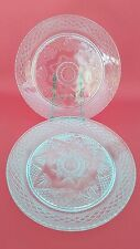 Set of 3 Dinner Plates Antique Clear Crystal D'Arques Durand USA 10 1/4 ""