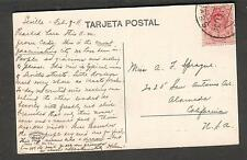 Spain 1911 Una calle Sevillana post card Seville to San Antonio Ave Alameda CA
