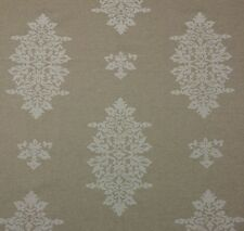 """LACEFIELD DESIGNS ACORN FILIGREE CHALK WHITE FLORAL MEDALLION FABRIC BY YD 54""""W"""