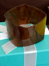 NEW RARE Tiffany & Co Frank Gehry Agate TORQUE Bangle Bracelet - Retired piece