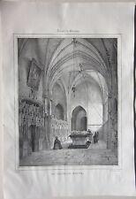 1838 SOUVIGNY Chapelle Neuve litografia Louis Courtin  Allier Desrosiers Moulins