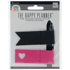 """Create 365 Happy Planner Pen Holder 2/Pkg-Pink & Black, Set Of 2"""