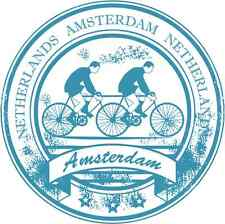 """Amsterdam Netherlands Bicycle Car Bumper Sticker Decal 5""""x 5"""""""