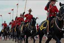 741070 Royal Canadian Mounted Police Musical Ride Ottawa Canada A4 Photo Print