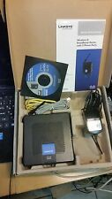 Linksys CISCO WRP400 VOIP Phone adapter SIP Gateway Wi-Fi router :+ 2 VoIP ports