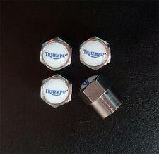 Triumph Chrome Wheel Valve Dust Caps.
