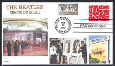 THE BEATLES  CIRQUE DU SOLEIL  THE MIRAGE- RINGO- PAUL- YOKO LOVE- 2012 FDC- DWc