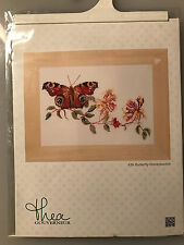 Thea Gouverneur BUTTERFLY HONEYSUCKLE Cross Stitch Kit