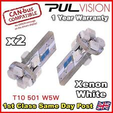 2x CANBUS ERROR FREE 8 SMD LED HID PURE WHITE W5W T10 501 SIDE LIGHT BULBS