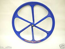 Blue Fixed Gear Mag Wheel by TENY RIMS. 26 x 1.25. Fixie bike. Bicycle.