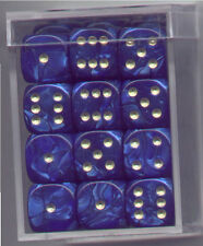 NEW Dice Cube Set of 36 D6 (12mm) - Pearl Blue