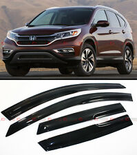 JDM 3D MUGEN STYLE SMOKED WINDOW VISOR RAIN/SUN SHADE FOR 2015-16 HONDA CRV CR-V
